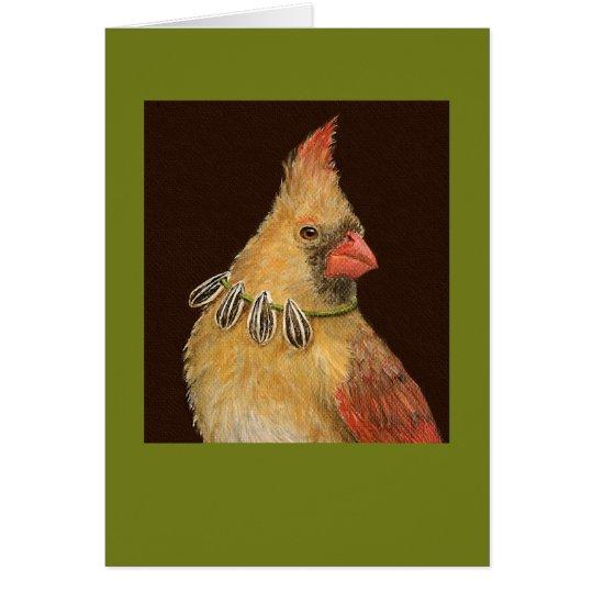 Trixie the cardinal card