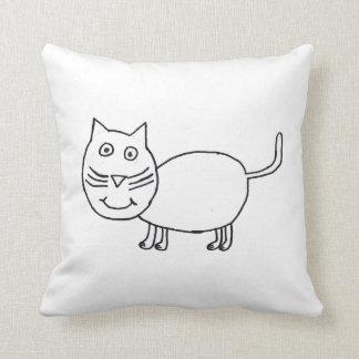 Trixie the Cat throw pillow