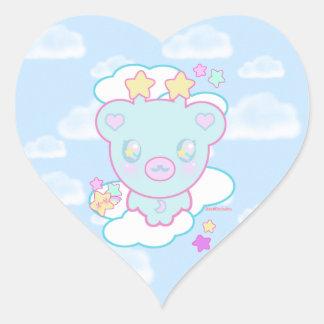 Trixie the Space Alien Bear Heart Sticker