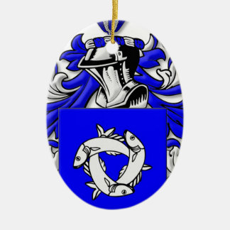 Trobaugh Coat of Arms Christmas Tree Ornament