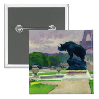 Trocadero Gardens and Rhinoceros by Jacquemart 15 Cm Square Badge