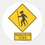 Troglodyte XING Round Sticker