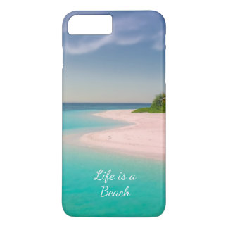 TROICAL ISLAND, LIFE IS A BEACH FUNNY  IPHONE CASE