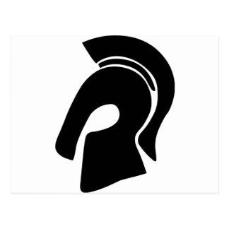 Trojan Helmet Postcard