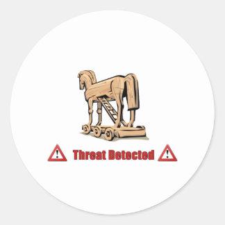 Trojan Threat Detected Round Sticker
