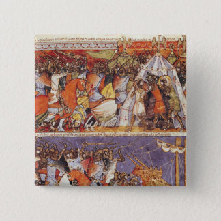 Trojans Invading Greek Camp 15 Cm Square Badge