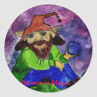 troll 1, Believe in Magic Round Sticker