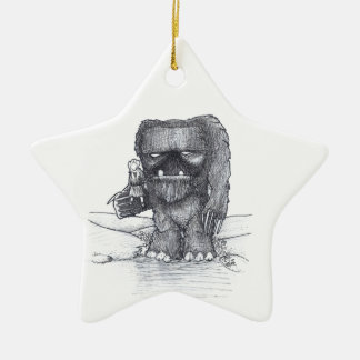 Troll and Companion drawing Christmas Ornament