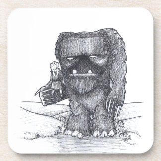 Troll and Companion drawing Coaster