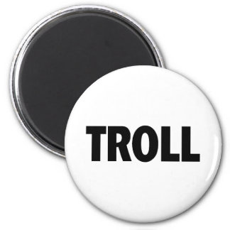 Troll Black 6 Cm Round Magnet
