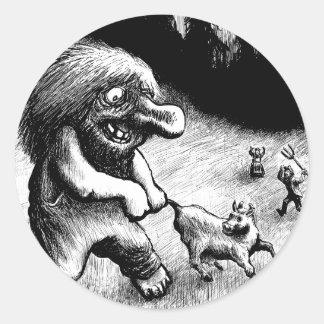 troll-clipart-13 classic round sticker