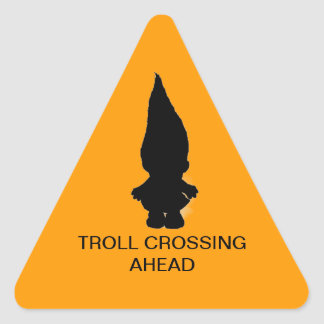 Troll Crossing Sticker