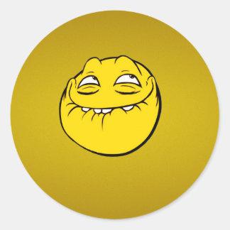 Troll Face Round Sticker