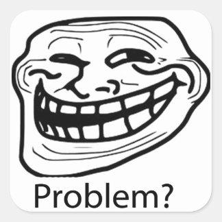 Troll face sticker sheet