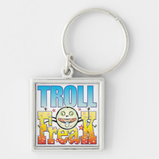 Troll Freaky Freak Silver-Colored Square Key Ring
