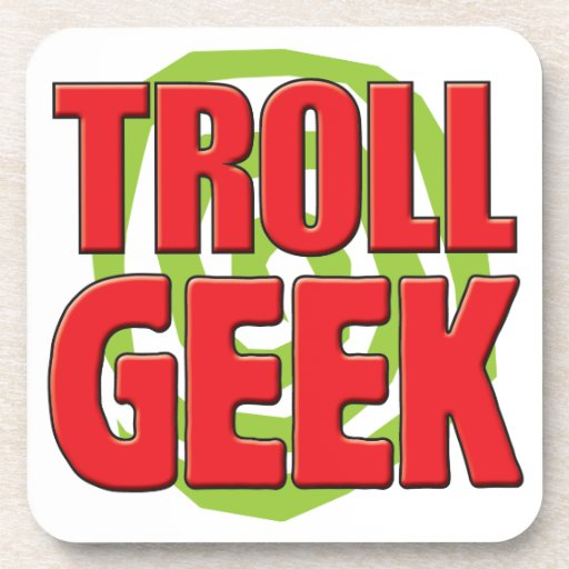 Troll Geek Drink Coaster
