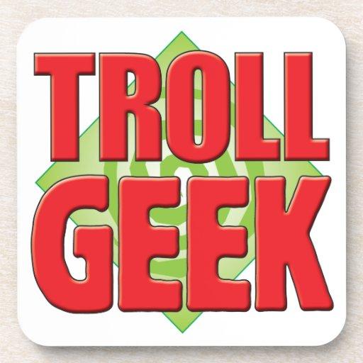 Troll Geek v2 Drink Coaster