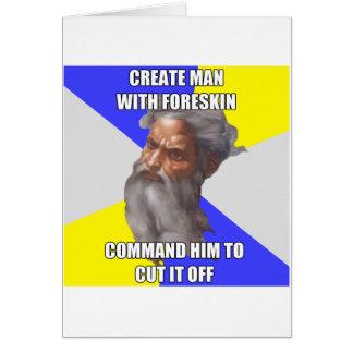 Troll God Circumcision Greeting Card