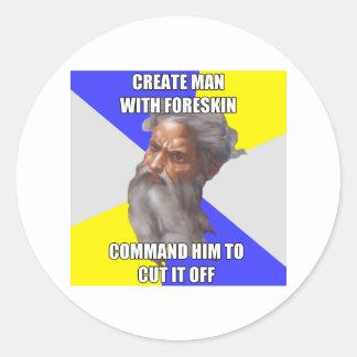 Troll God Foreskin Classic Round Sticker