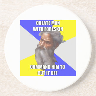 Troll God Foreskin Coasters