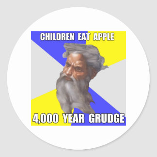 Troll God Grudge Classic Round Sticker