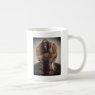 Troll in Chains with Fork and Spoon Basic White Mug