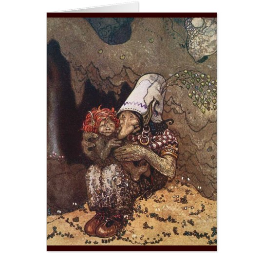 Troll Mother and Child by John Bauer Card