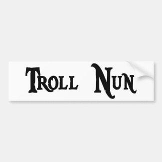Troll Nun Sticker Bumper Stickers