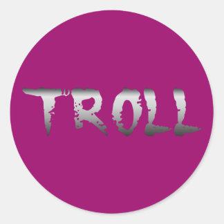 Troll Round Sticker