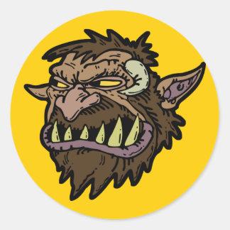 troll round stickers