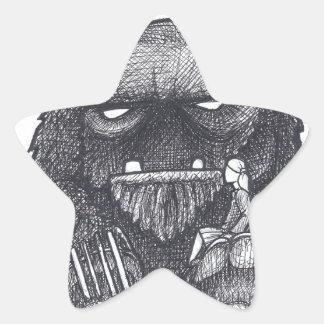 Troll Stump Drawing Star Sticker