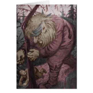 Troll Tearing Down Tree Greeting Card