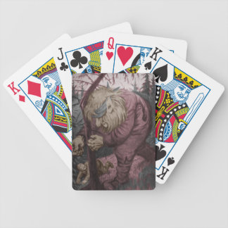 Troll Tearing Down Tree Playing Cards