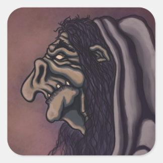 troll witch square sticker