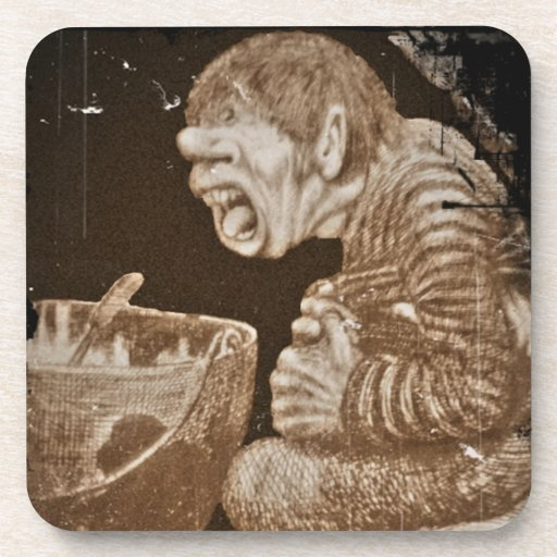 Troll with Giant Cauldron Drink Coaster