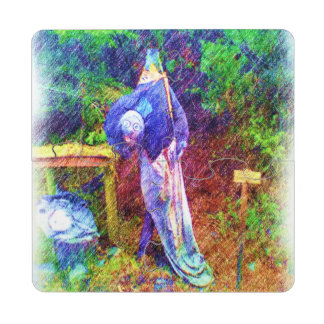 Troll with head under arm puzzle coaster