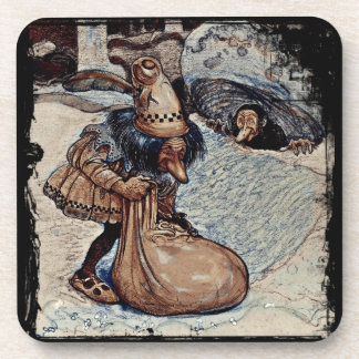 Troll with His Hand in a Bag Beverage Coasters