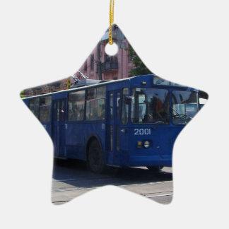 Trolley Bus Ceramic Star Decoration