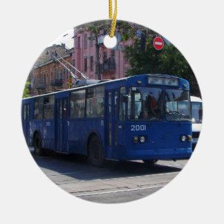 Trolley Bus Christmas Ornament