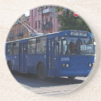 Trolley Bus Drink Coasters