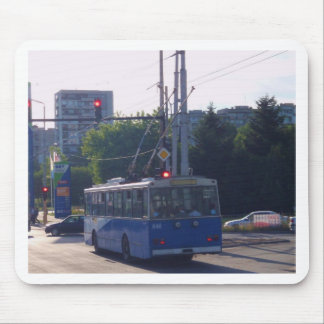 Trolley Bus In Bulgaria Mouse Pads