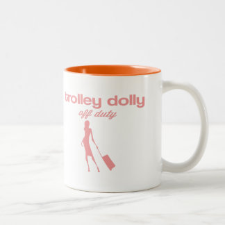 Trolley dolly off duty Two-Tone coffee mug