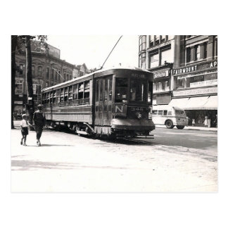 Trolley in Wilkes-Barre Postcard