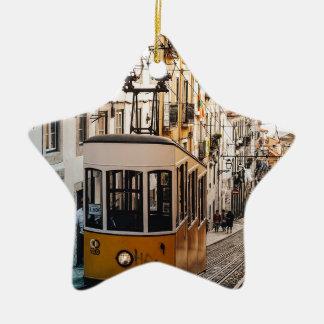 Trolley Street Car Transport Rail Train City Christmas Ornament