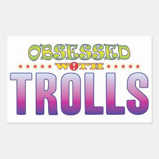 Trolls 2 Obsessed Rectangular Sticker