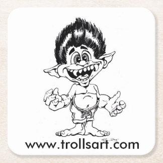 Trolls Art coasters Square Paper Coaster