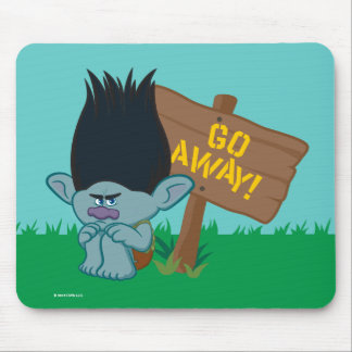 Trolls | Branch - Go Away Mouse Mat