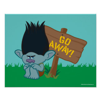 Trolls | Branch - Go Away Poster