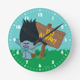 Trolls | Branch - Go Away Round Clock