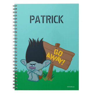Trolls | Branch - Go Away Spiral Notebook